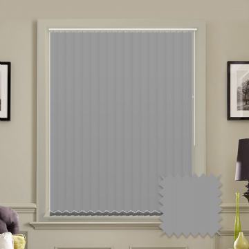 Unicolour Ash 5 inch Light Grey Vertical Blinds - made to measure
